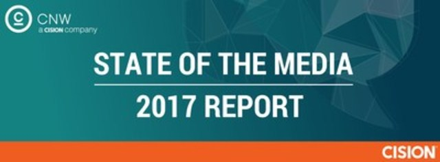 Today, Cision released its 2017 State of the Media Report, which shares findings from an annual survey of North American journalists, editors, producers and influencers. (CNW Group/CNW Group Ltd.)