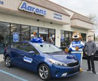 Aaron's Delivers 2017 Blue Kia Forte EX To Grand Prize Winner In California