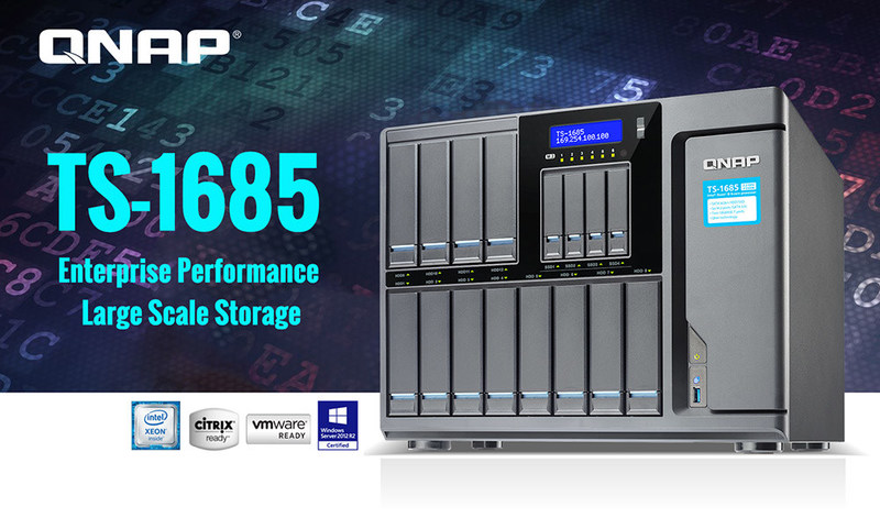 The new TS-1685 Enterprise NAS from QNAP.