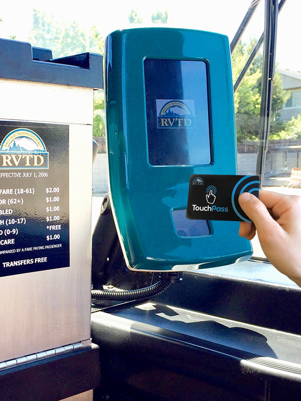 TouchPass Reader on RVTD Bus