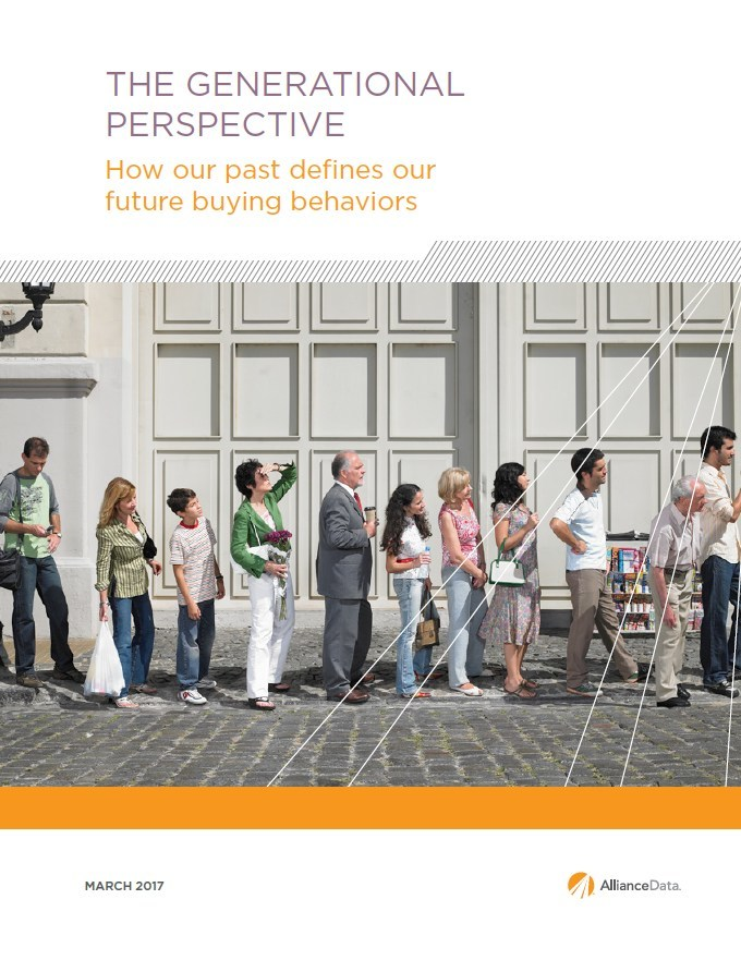 Alliance Data's Analytics and Insights Institute conducted The Generational Perspective study to better understand consumer buying behavior and expectations. The newest report from Alliance Data provides insights into how shoppers' coming-of-age experiences define their future shopping behaviors.