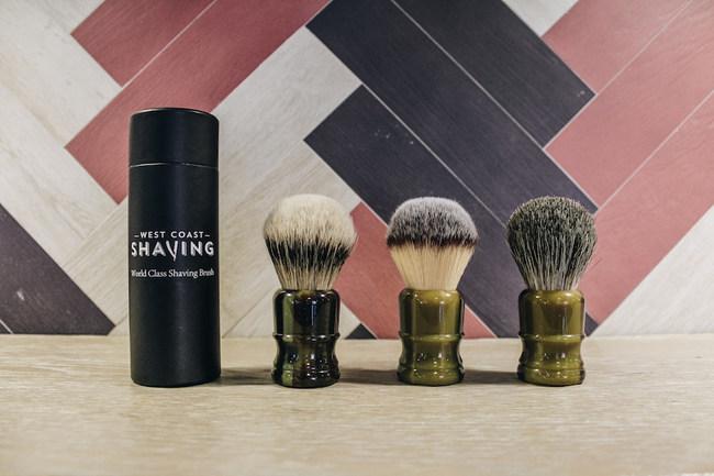 The three versions of the tortoise shell shaving brush