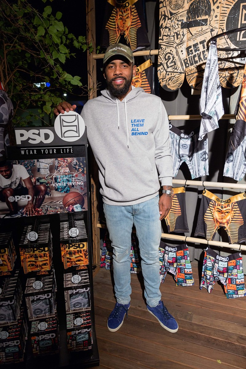Kyrie Irving with his PSD Underwear signature line.