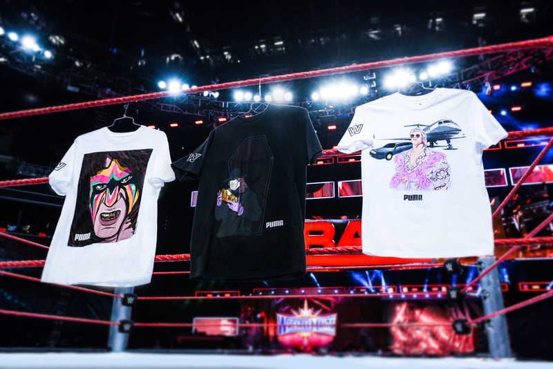 "Foot Locker will release a collection of Puma product, featuring exclusive art of six WWE Legends: ""Stone Cold"" Steve Austin, The Ultimate Warrior, ""Macho Man"" Randy Savage, Ric Flair, Andre the Giant and Undertaker."