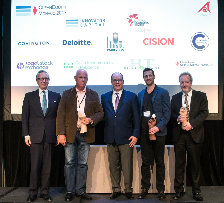 CleanEquity Monaco 2017 Award Winners - AgriProtein, KDC Agribusiness & Iceotope Technologies