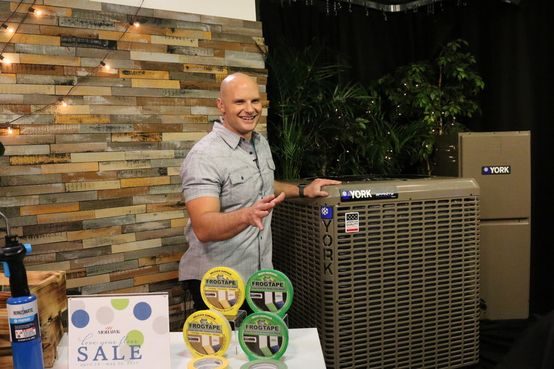 Designer and HGTV personality Chip Wade announces the YORK Affinity(TM) #AmericanQuality contest during a satellite media tour.
