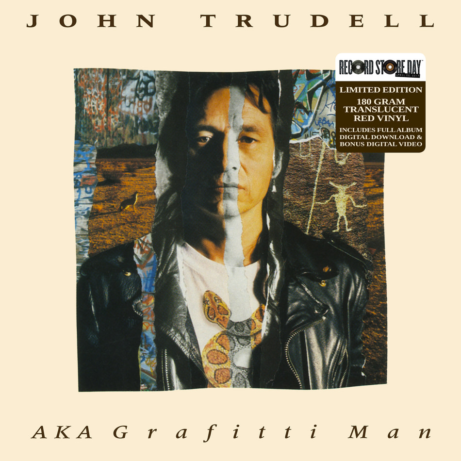 John Trudell Archives announces a re-issue of the critically acclaimed John Trudell release AKA Grafitti Man in a limited edition vinyl on Record Store Day, worldwide on April 22, 2017, in a partnership with Record Store Day and Inside Recordings.