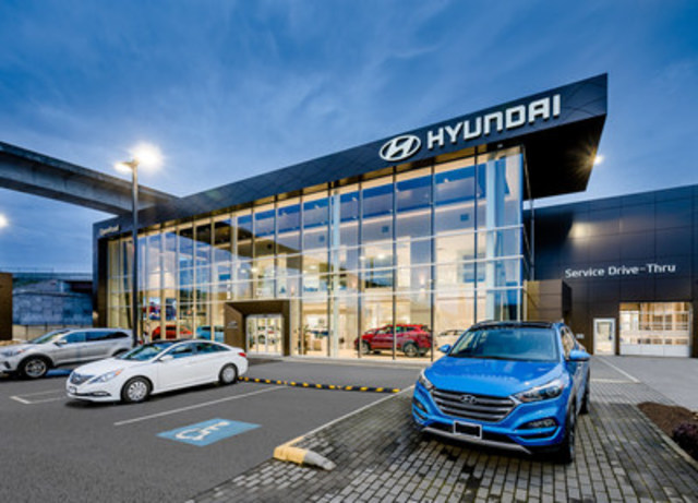 OpenRoad Hyundai Boundary, a new dealer within the Hyundai network, has proudly opened its doors to customers in Vancouver. (CNW Group/Hyundai Auto Canada Corp.)