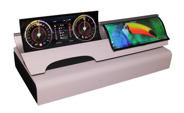 Dual plastic curved OLED display from Visteon
