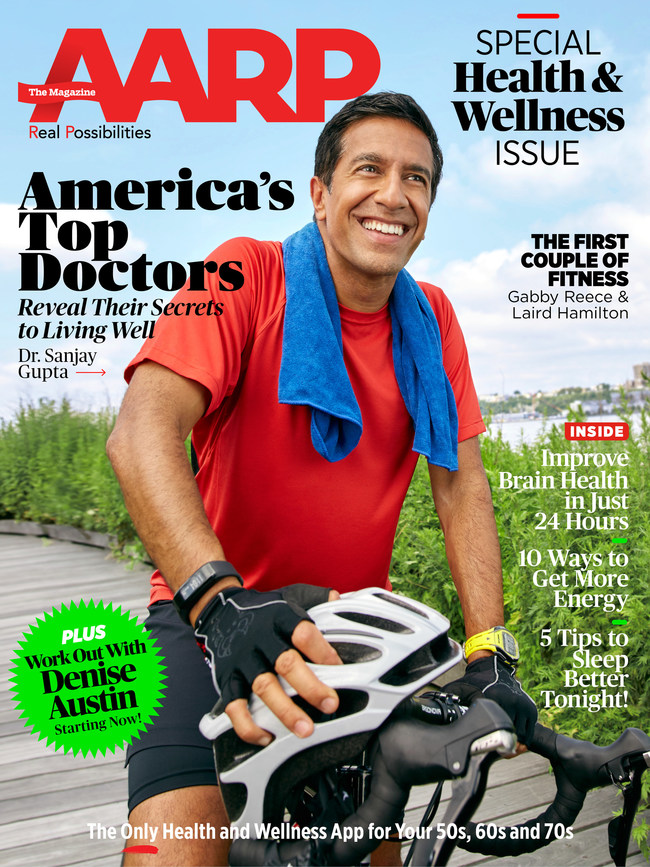 AARP The Magazine's Special Edition Health & Wellness Issue Cover with Dr. Sanjay Gupta