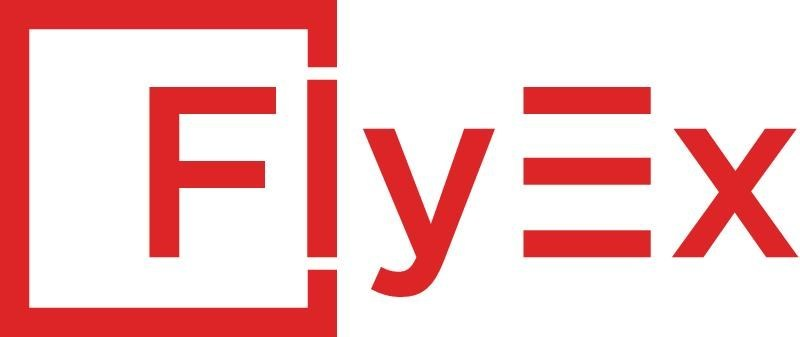 FlyEx Logo - White