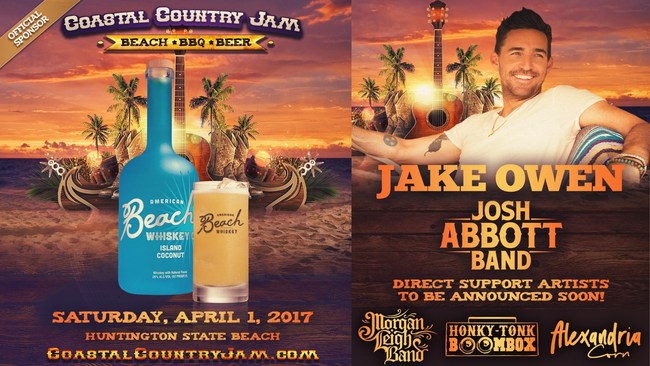 Beach Whiskey is the sponsor of the 2017 Coastal Country Jam