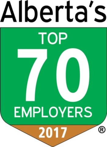 Alberta's Top 70 Employers 2017 (CNW Group/Mediacorp Canada Inc.)