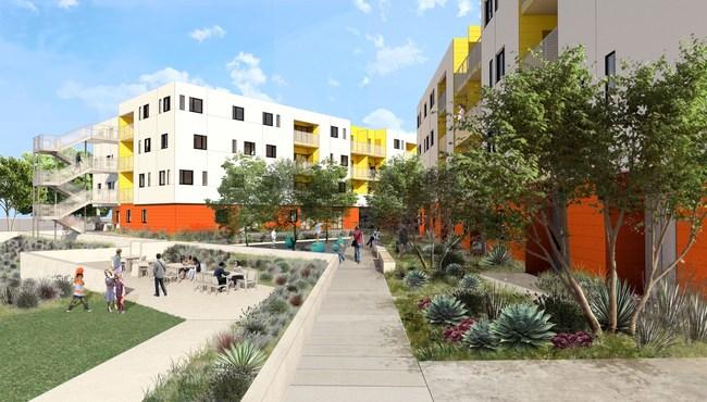 Keeler Court Apts Courtyard Space; credit BNIM