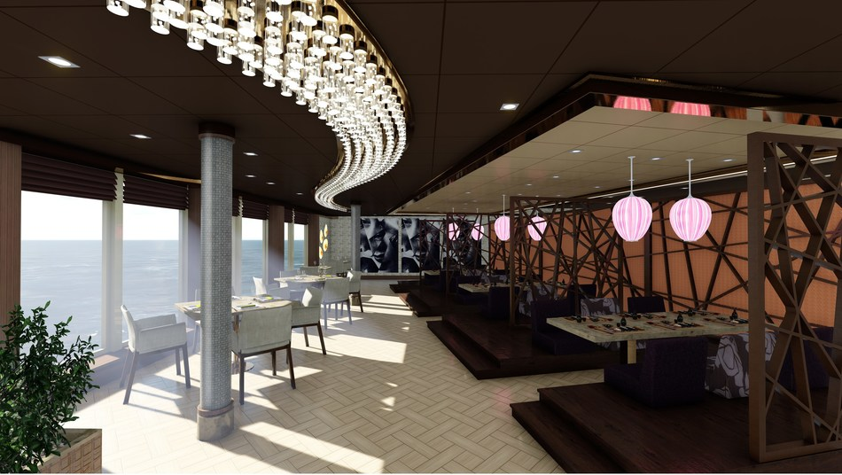 MSC Seaside will feature a new restaurant in partnership with celebrity chef Roy Yamaguchi, Asian Market Kitchen by Roy Yamaguchi