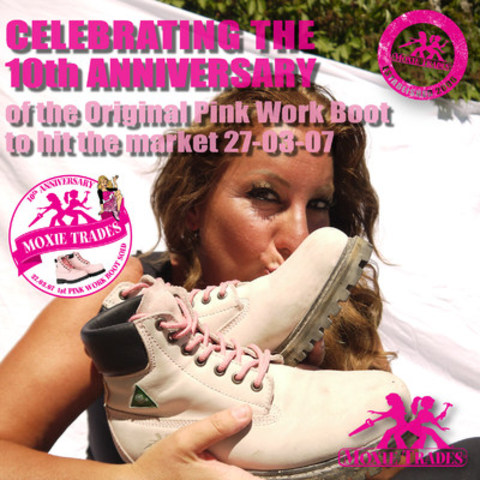 Moxie Trades celebrates 10 years of the Pink Work Boot (CNW Group/Moxie Trades)