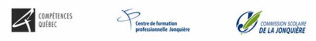 Logo : Compétences Québec, Centre de formation professionnelle Jonquière, Commission scolaire De La Jonquière (Groupe CNW/Compétences Québec)