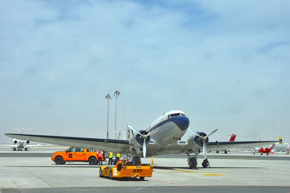 Jetex is proud to host the Breitling DC-3 at our FBO Terminal in Dubai (PRNewsFoto/Jetex)