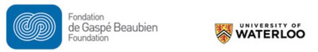 Logo: de Gaspé Beaubien Foundation/University of Waterloo (CNW Group/de Gaspé Beaubien Foundation)