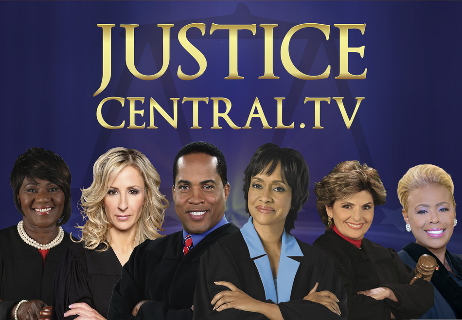 Now carried on DISH, Entertainment Studios Networks' 24-hour cable television network JUSTICE CENTRAL (JusticeCentral.TV) now features six Judges, each with their own court series (L-R) Judge Mablean Ephriam, Judge Cristina Perez, Judge Kevin Ross, Judge Glenda Hatchett, Judge Gloria Allred, and Judge Karen Mills-Francis.