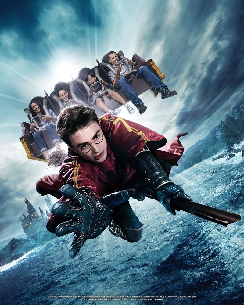 """""""The Wizarding World of Harry Potter"""" at Universal Studios Hollywood Elevates """"Harry Potter and the Forbidden Journey"""" to 4K-HD with State-of-the-Art Imagery Projecting at Four Times the Frame Rate for an Even More Immersive Experience"""