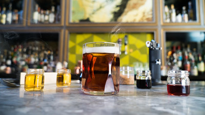 Head bartender Eric Trousdale of Arbella uses a Bernzomatic ST2200 torch to smoke his Chicago Fire Extinguisher cocktail to perfection. Try this smoked cocktail at home in honor of National Cocktail Day on March 24.