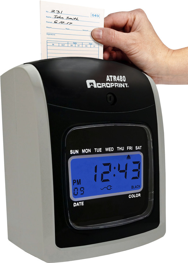 Acroprint ATR480: A Budget-Friendly Totalizing Time Clock