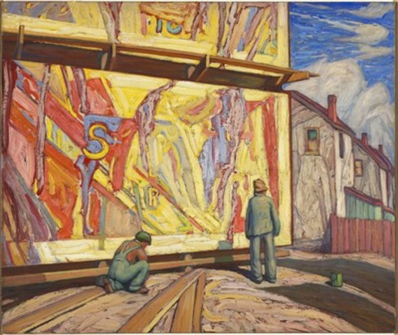 Lawren S. Harris, Billboard (Jazz), 1921, National Gallery of Canada, Ottawa, Gift of Imperial Oil Limited, Calgary, 2016, © Family of Lawren S. Harris, Photo: NGC (CNW Group/National Gallery of Canada)