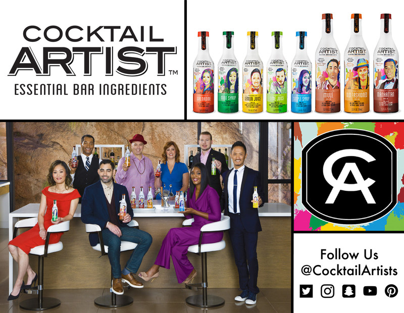 "The Cocktail Artist(TM) line features a complete set of ""go to"" bar ingredients and mixes, each carefully developed with an Award Winning Mixologist. Now available at Walmart stores nationwide."