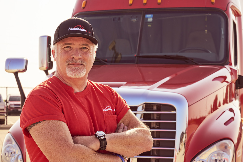 Nussbaum Transportation Services implements SmartDrive Systems SmartIQ Transportation Intelligence Suite, resulting in significant operational and safety improvements. Pictured, Nussbaum driver Clark Reed.