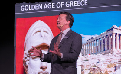 Viking Cruises today announces the rollout of its new onboard Viking Resident Historian program launching on Viking Star, Viking Sea and Viking Sky. The Viking Resident Historian lectures are exclusively produced by Viking, under the tutelage of Dr. Charles Doherty, Chief Viking Resident Historian (pictured), presenting a Viking history lecture on Greek Civilization. Along with a carefully selected faculty of historians, the program provides an enhanced level of enrichment for guests.