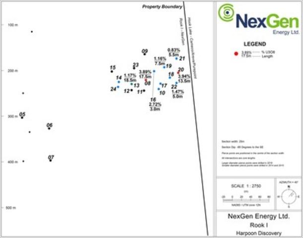 Figure 1: A2 Harpoon Long Section (CNW Group/NexGen Energy Ltd.)