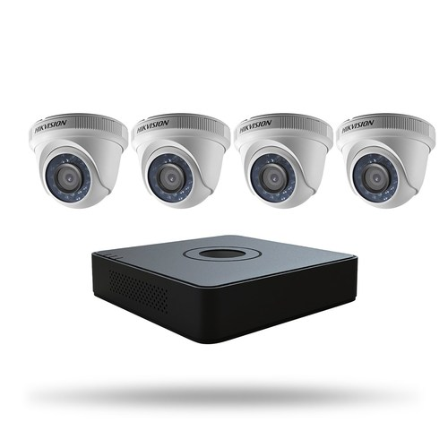 Hikvision is offering kits for the first time. The components were carefully selected to meet the distinct needs of the SMB market. Hikvision is offering two levels of kits. Pictured here is the 4-channel Super Value TurboHD kit.