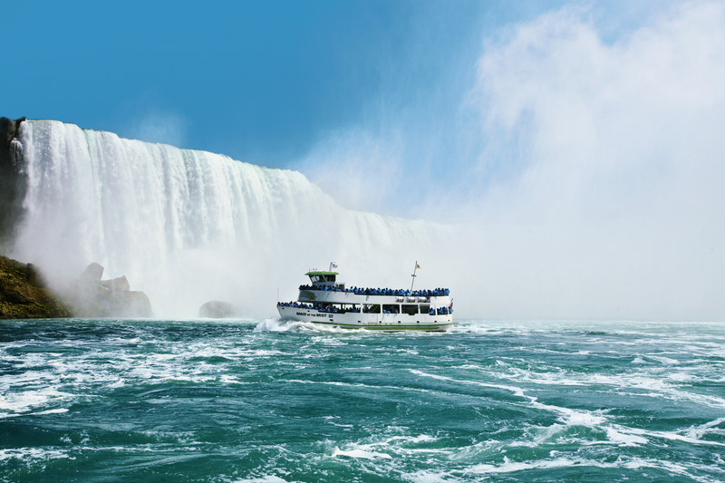 Maid of the Mist is one of North America's longest running tourist attractions.  The 2017 season begins Apr. 1, in Niagara Falls, U.S.A. www.maidofthemist.com