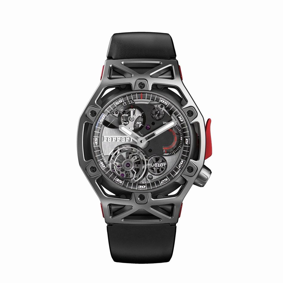 Hublot Techframe Ferrari Tourbillon Chronograph Titanium (PRNewsFoto/Hublot)