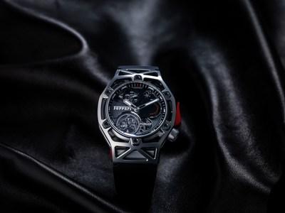 Techframe Ferrari Tourbillon Chronograph Titanium (PRNewsFoto/Hublot)