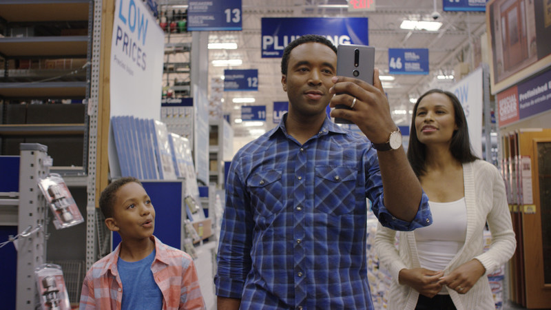 Lowe's Vision: In-Store Navigation app in use