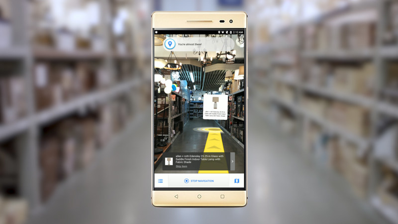 Lowe's Vision: In-Store Navigation screen shot
