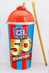 Anniversary ICEE Cup and Gold Spoon Straw