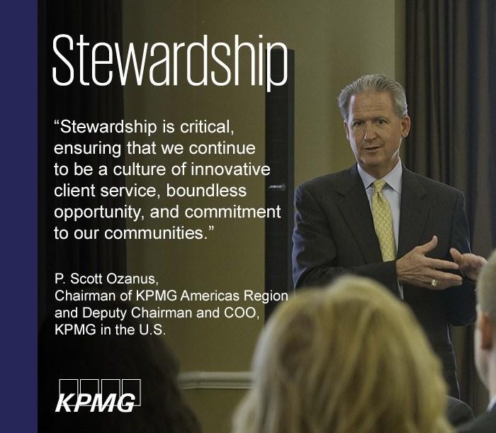 KPMG's P. Scott Ozanus on stewardship