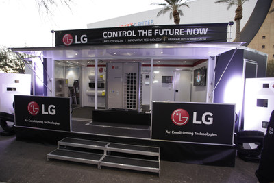 """LG Electronics is reinforcing its deep commitment to the future of the HVAC industry by introducing the """"LG Technology Roadshow"""" - a unique LG mobile showroom on wheels"""