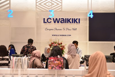 The wide range of LC Waikiki products combining good quality and affordable fashion received great attention from customers. (PRNewsFoto/LC Waikiki)