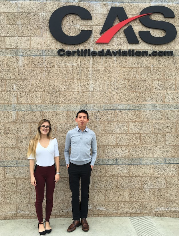 Certified Aviation Services, LLC (CAS) is pleased to announce the addition of Katherina Zecca and Milton Tan.