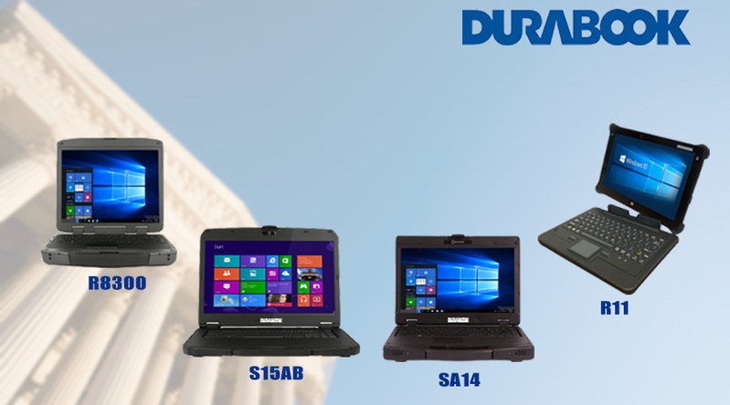 GammaTech's DURABOOK rugged computers offer the functionality, security, durability, capability and mobility necessary for government professionals to get their jobs done from virtually anywhere