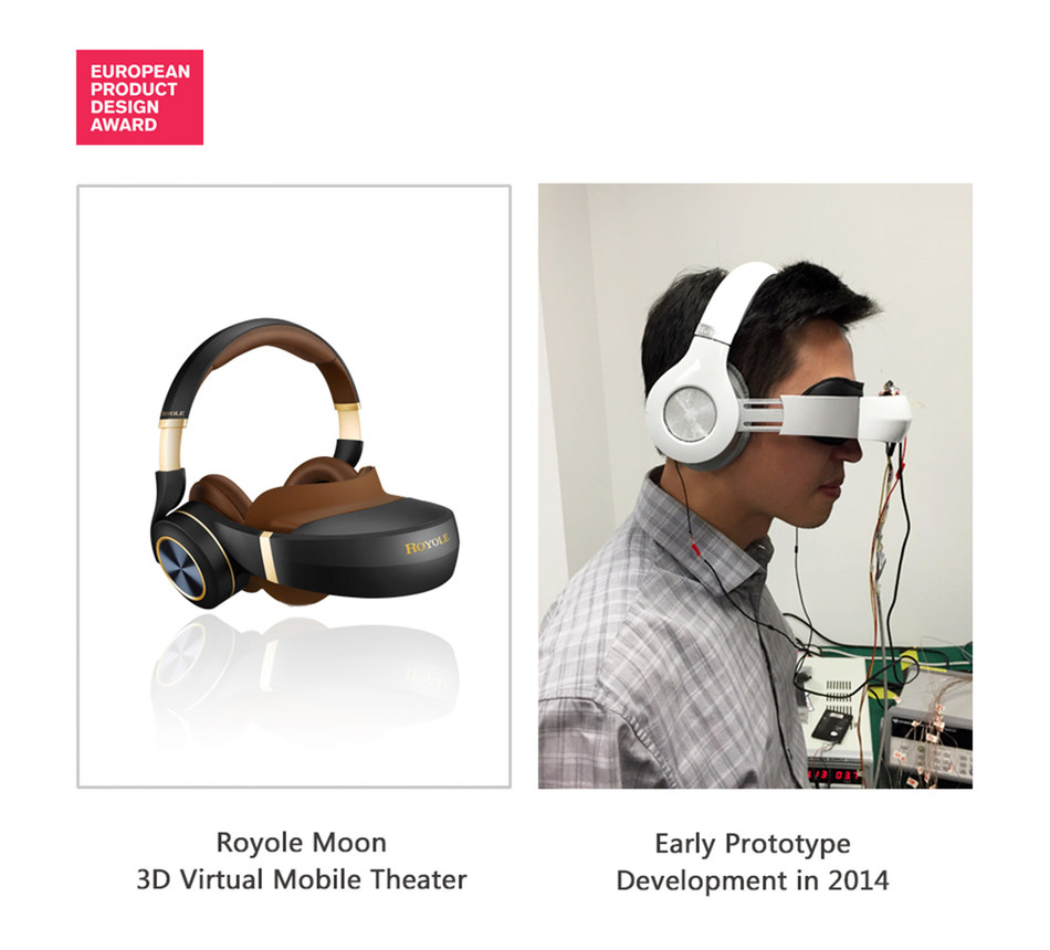 Royole named winner of prestigious European Product Design Award in Media and Home Electronics - Consumer Electronics and Cameras Category for its 3D virtual mobile theater, Moon.