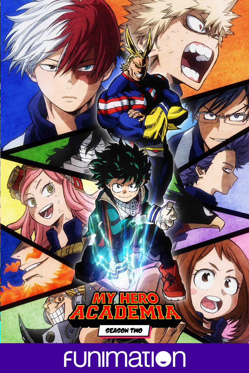 """My Hero Academia"" Season 2 official poster art. Courtesy Funimation Entertainment."