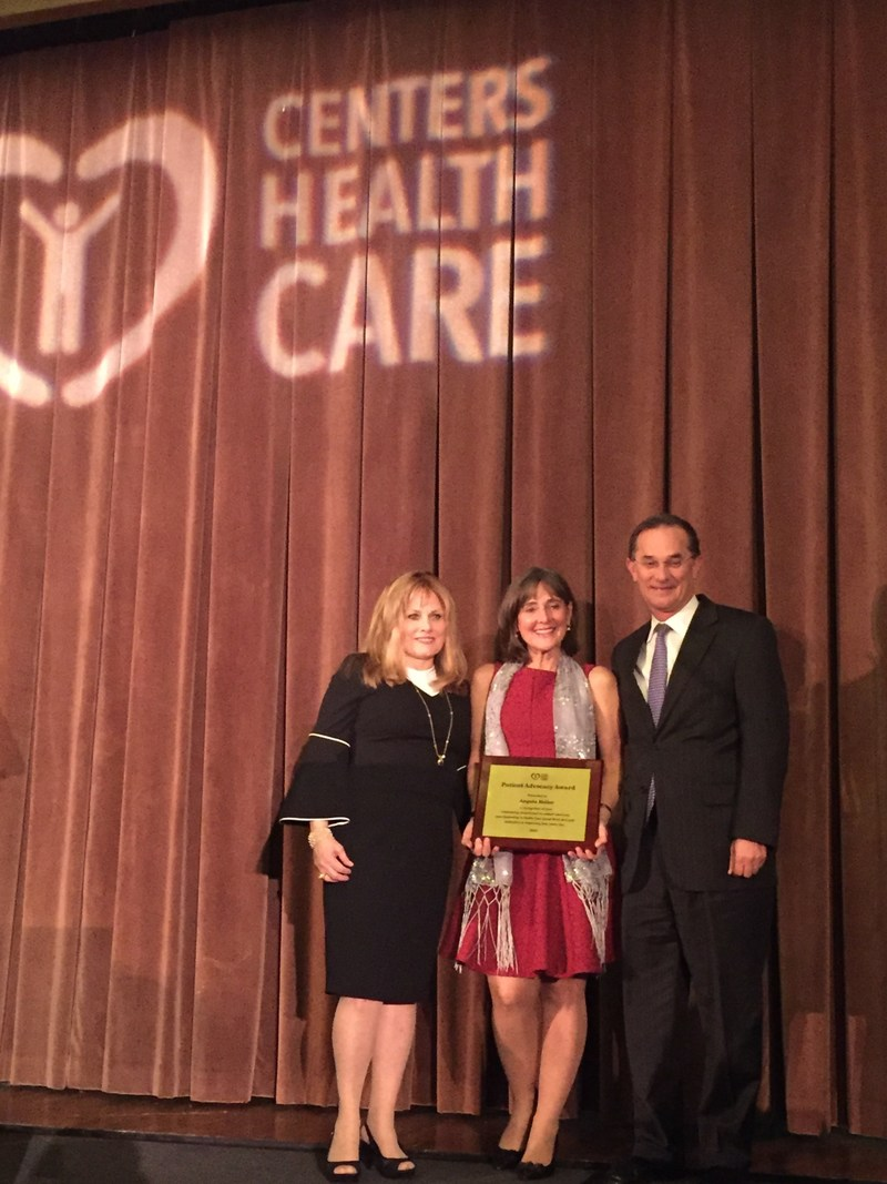 Gloria Allon, (VP of Business Development, Revival Home Care, Centers For Care), E. Angela Heller, John A. Chabot, MD, FACS, (Surgeon & Executive Director, Pancreas Center, New York-Presbyterian/Columbia University Medical Center), at the First Annual Centers Health Care Patient Advocacy Award in New York, March 23, 2017