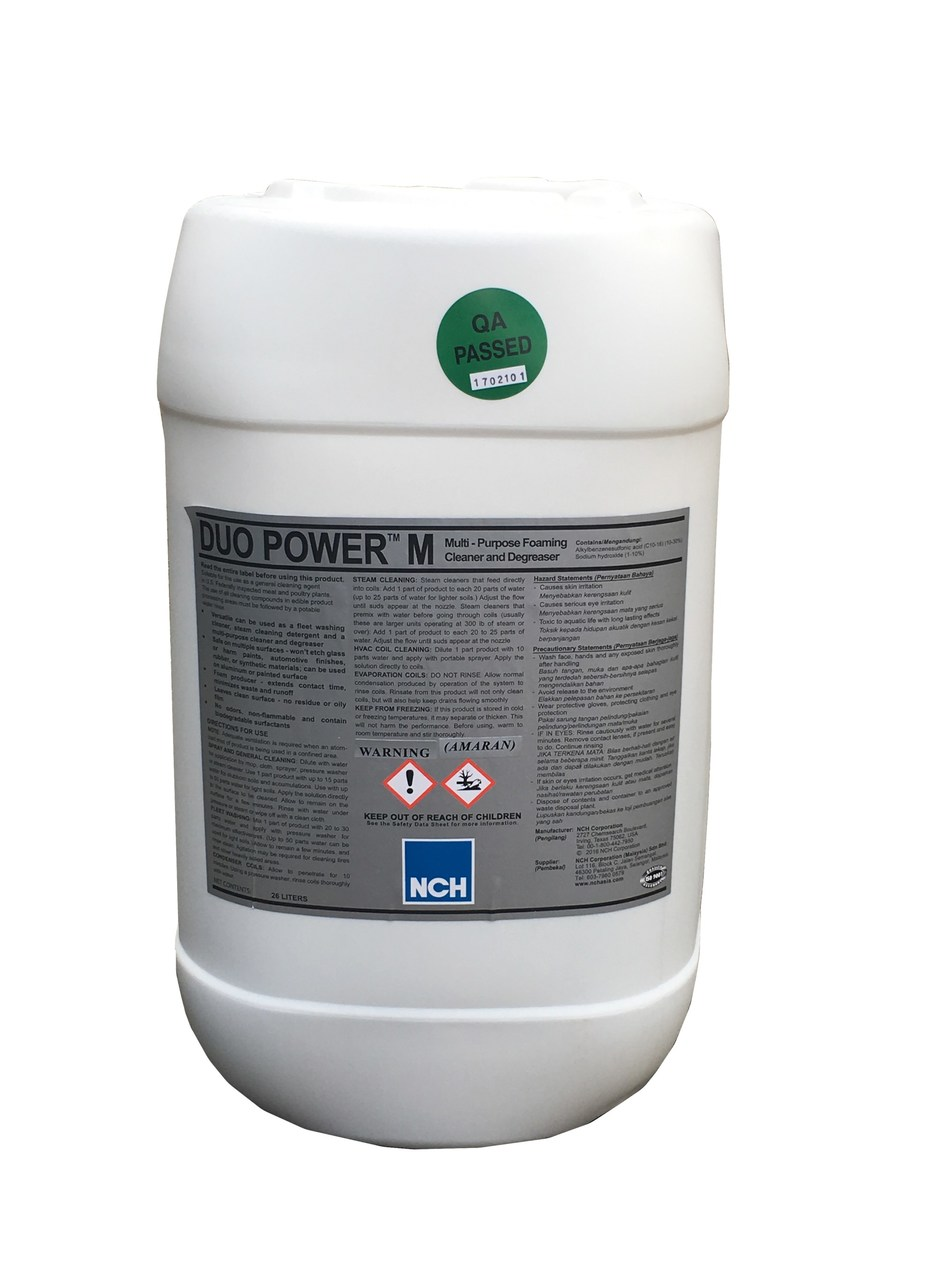 Duo Power M, a heavy-duty cleaner which can replace as a fleet washer, steam cleaner, and degreaser. It is suitable for most of the industrial cleaning use. For more information, please visit www.nchasia.com (PRNewsFoto/NCH Corporation)