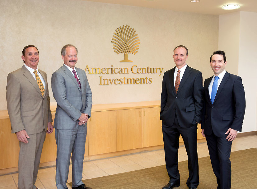 The American Century Investments' One Choice Target Date Portfolio team (left to right): Senior Portfolio Manager Rich Weiss, Multi-Asset Strategies CIO Scott Wittman, Portfolio Manager Scott Wilson and Portfolio Manager Radu Gabudean.