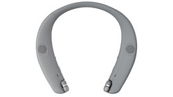 """Designed in collaboration with surround sound experts, the LG TONE Studio allows you to experience the first DTS(R)-tuned wireless device for wearable """"cinema-like"""" surround sound through four speakers - two upward firing, full range on the top of the headset and two vibration speakers underneath."""